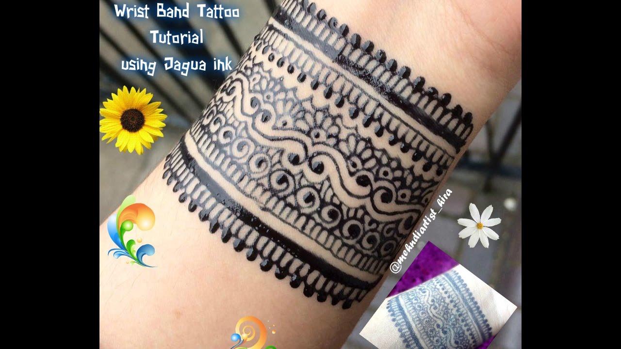 DIY Henna Designs How To Apply Easy Simple New Stylish Wrist Band Mehndi Tattoo Using Jagua Ink