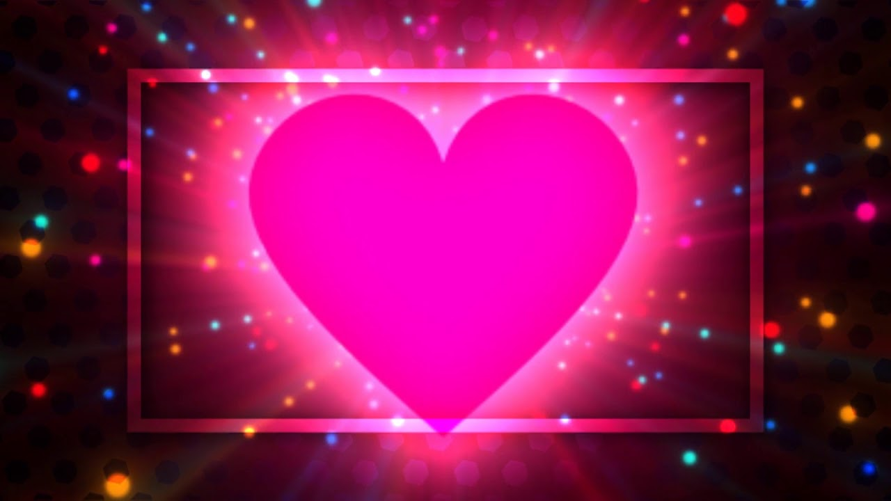 Pink Heart Background Frame Wedding Background Effects Dmx Hd Bg
