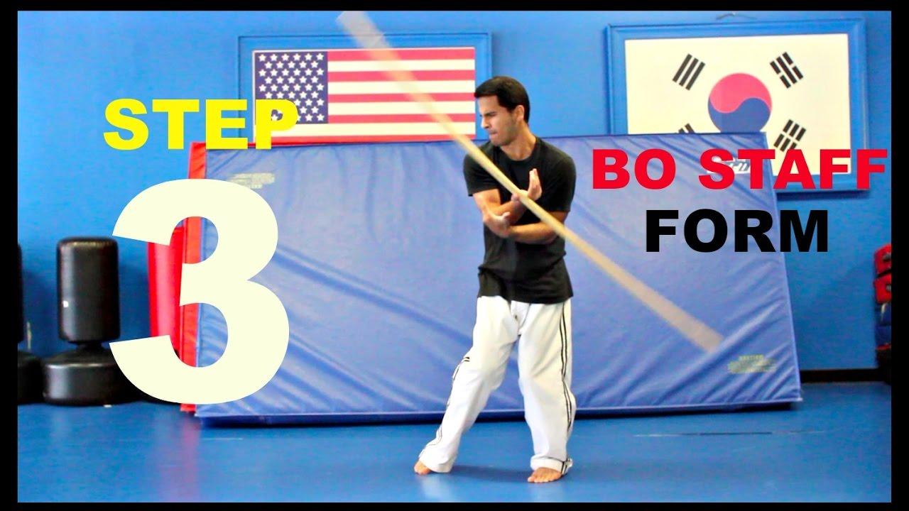 BO STAFF TRICKS TUTORIAL FORM 3 FIGHTS SKILLS TECHNIQUES
