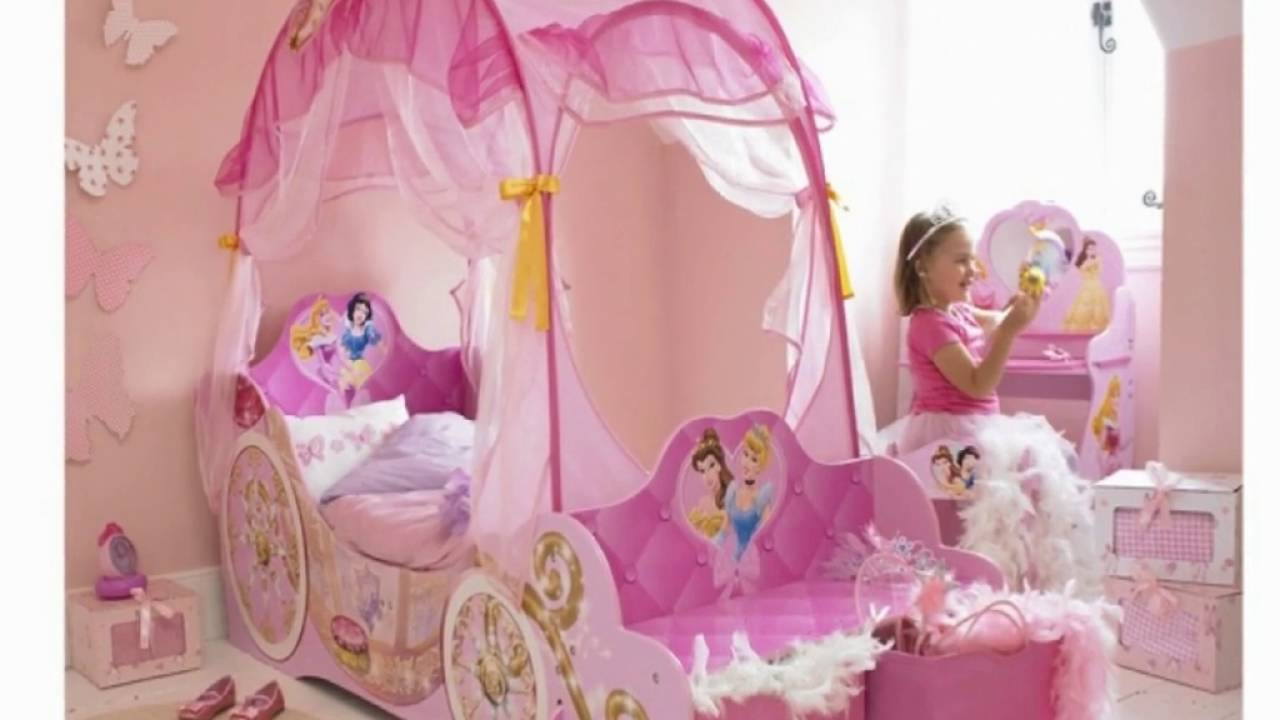 Girls Canopy Beds For Kids   YouTube