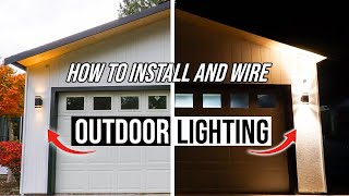 How To Install And Wire Outdoor Light Fixtures - Easy Home DIY Project!