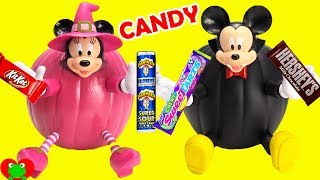Minnie Mouse and Mickey Mouse Halloween Pumpkins Candy Surprises