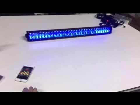 Bluetooth control Flashing led light bar by music