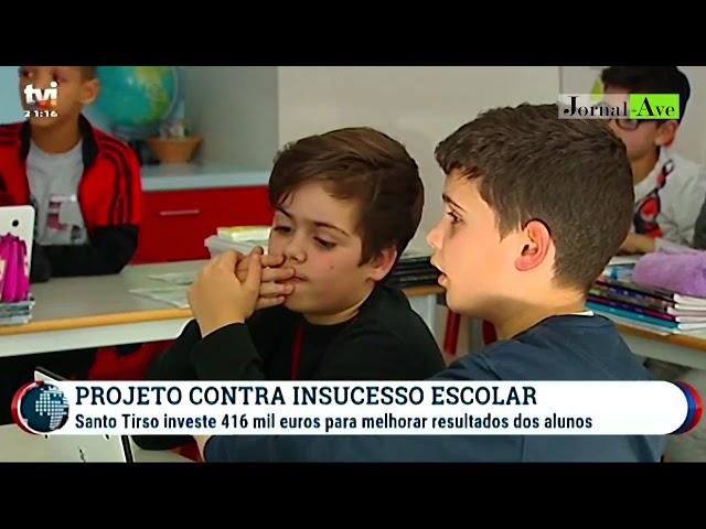 Município de Santo Tirso investe 416 mil euros contra insucesso escolar.