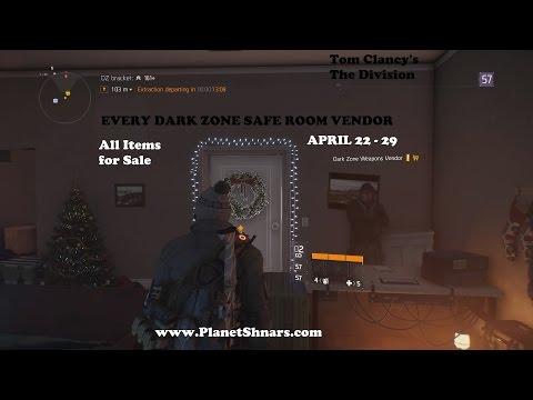 All Dark Zone Safe Room Vendors - Every Item for Sale - Valkyria - Tom Clancy's The Division