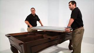 How to assemble and install your Majestic Billiards slate pool table
