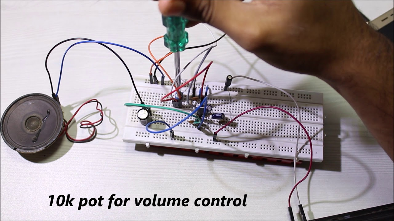 How To Make Lm386 Simple Audio Amplifier Youtube Stereo Circuit