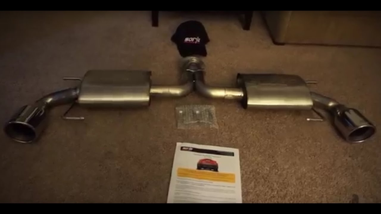 unboxing the borla axle back exhaust for my mazda 3
