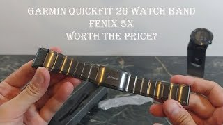 Garmin Fenix 5x Metal Link Quickfit 26mm Watch Band Review : Worth the Price?!