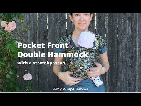 8951ba697d0 What else can a stretchy wrap do  Pocket Front Double Hammock with a Solly  wrap