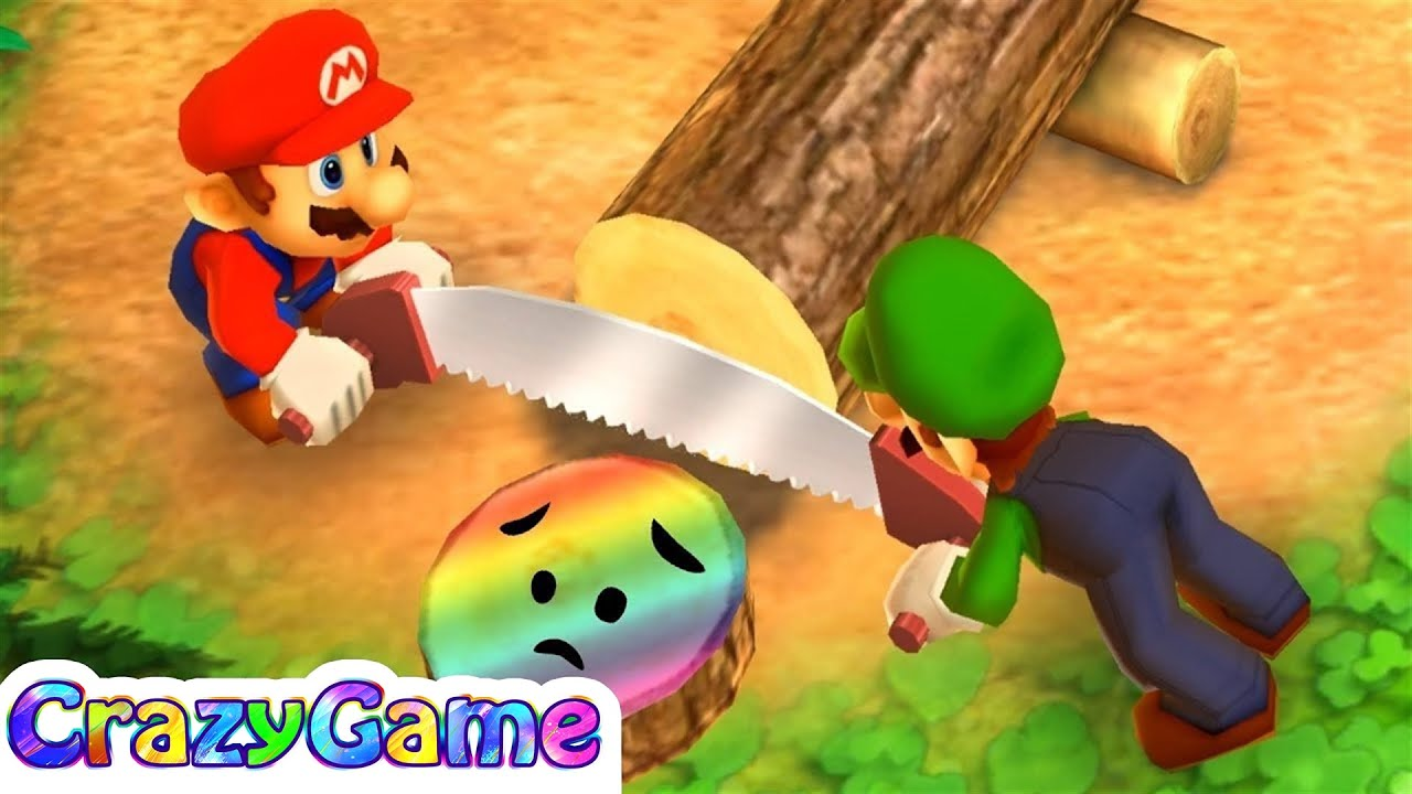Mario Party The Top 100 - Looney Lumberjacks w/ other Minigames Gameplay