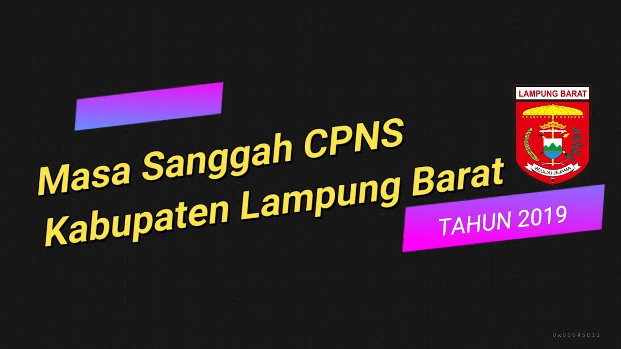 Masa Sanggah Cpns Kabupaten Lampung Barat Youtube