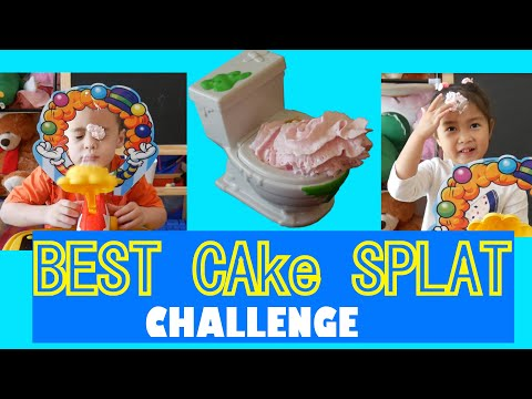 Cake Splat Game Challenge |  Whipped Cream | Rock Scissors Paper | Toy Surprise
