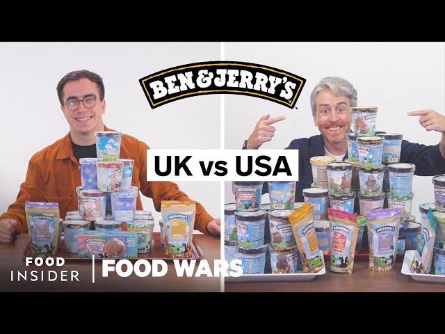 US vs UK Ben & Jerry's | Food Wars