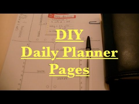 DIY Daily Planner Pages - YouTube