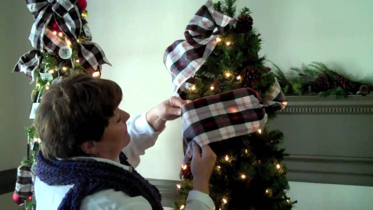 using ribbon on your christmas tree youtube