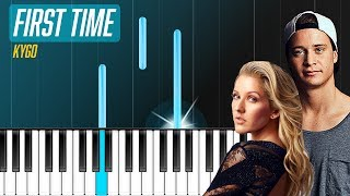 """Kygo - """"First Time"""" ft Ellie Goulding Piano Tutorial - Chords - How To Play - Cover"""