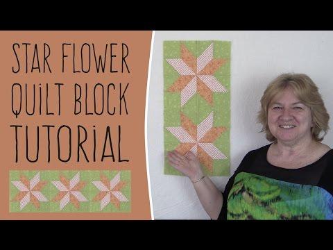 Quilting Blocks: Star Flower Quilt Block Tutorial (Like Lemoyne Star Quilt)