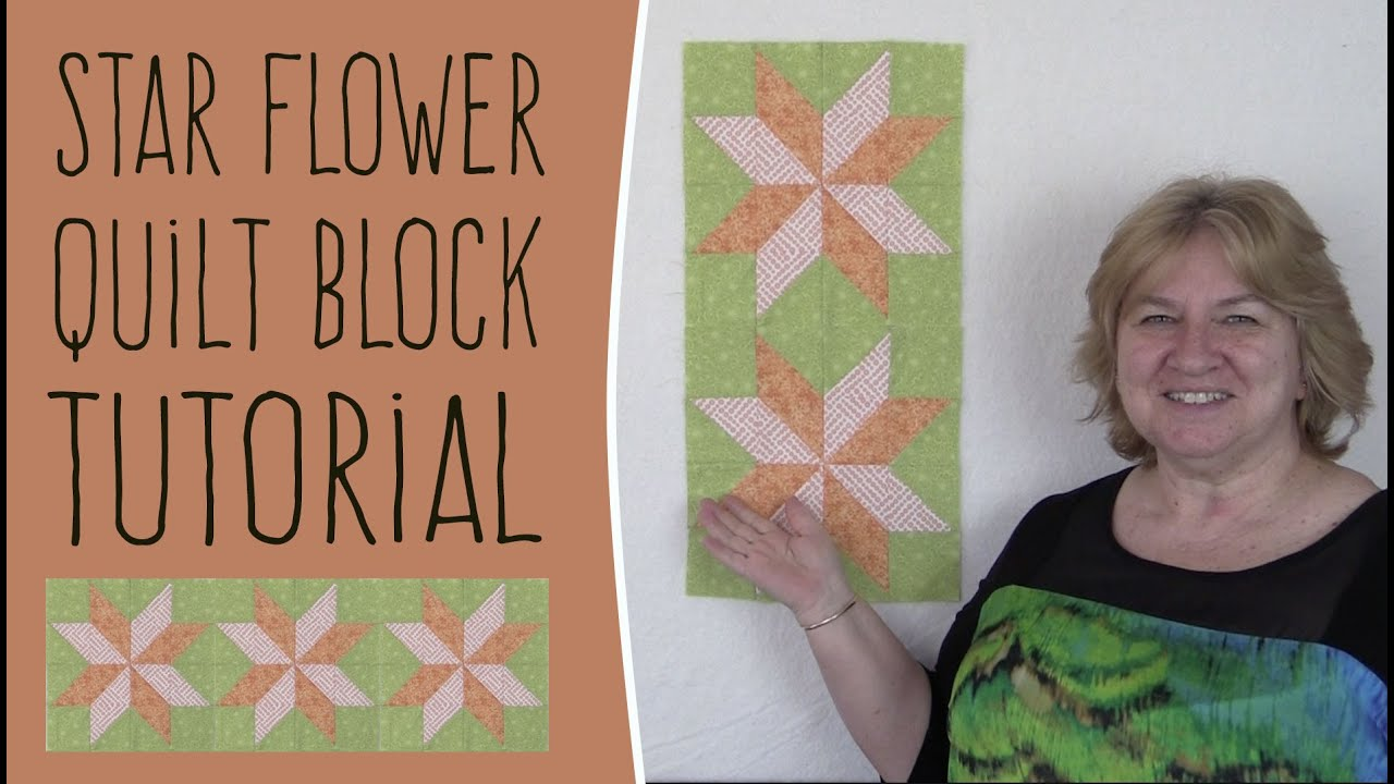 Quilting Blocks: Star Flower Quilt Block Tutorial (Like Lemoyne ... : star flower quilt block pattern - Adamdwight.com