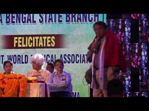 President World Medical Association Dr Ketan Desai speech at Felicitation Ceremony in CWC Kolkata
