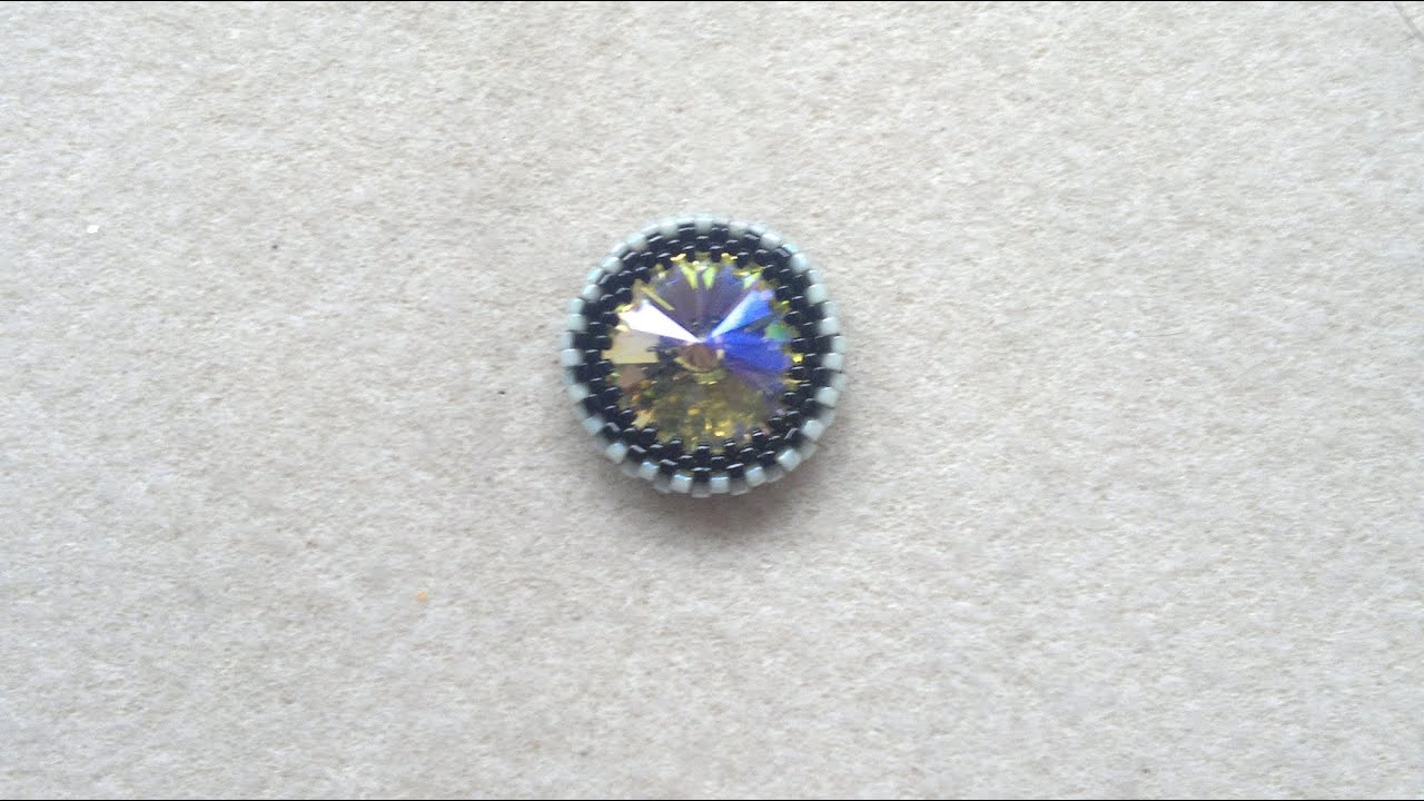 Beading4perfectionists : How to bezel an 18mm Swarovski