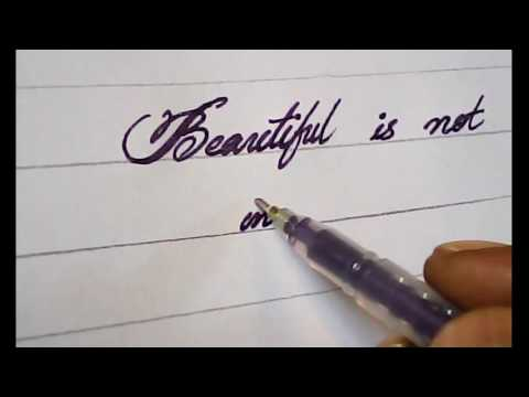 Handwriting How To Write With Pen Calligraphy Youtube