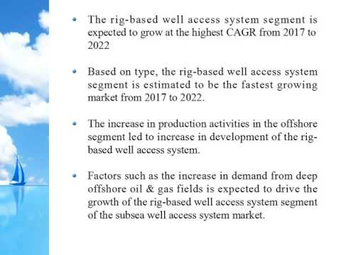 Subsea Well Access System Market Forecasts to 2022