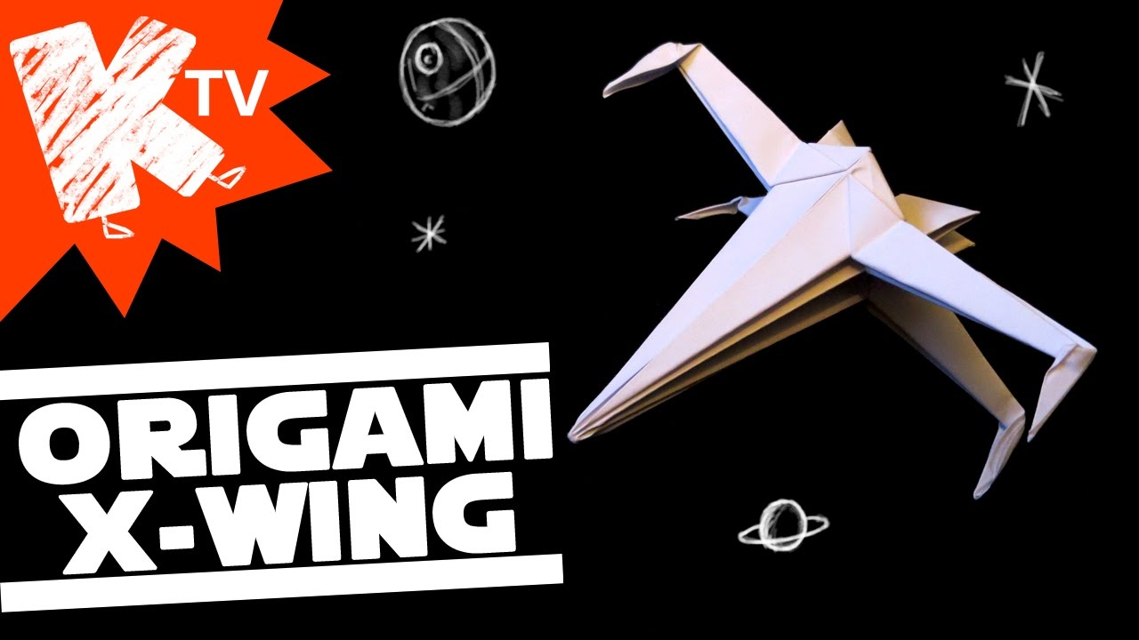 origami star wars x-wing - youtube