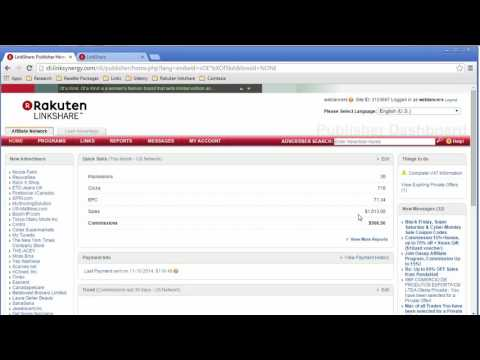 How I Make $500 A Month with Rakuten LinkShare Affiliate Network - Proof Of Earnings
