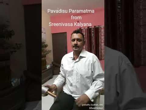 Madhu singing Pavadisu Paramatma from Sreenivasa Kalyana