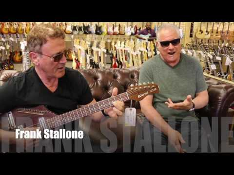 Frank Stallone playing a Coral Electric Sitar here at Norman's Rare Guitars