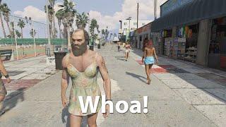 10 Hours of Walking in Los Santos as a Man (in a dress)