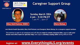 Caregiver Support Seminar hosted by Hope Foundation and EverythingALS