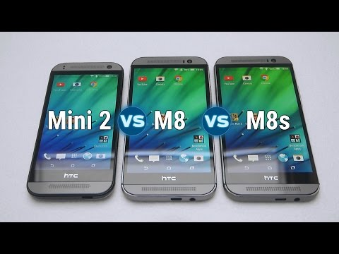 HTC One M8s vs M8 vs Mini 2 Speed Test (English)