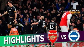 Arsenal vs. Brighton: 1-2 Goals & Highlights | Premier League | Telemundo Deportes