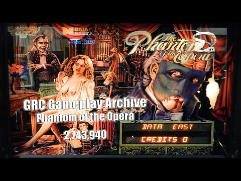 PHANTOM OF THE OPERA Pinball Machine ~ GRC Archive Gameplay ~ MAT Scores 2,743,940