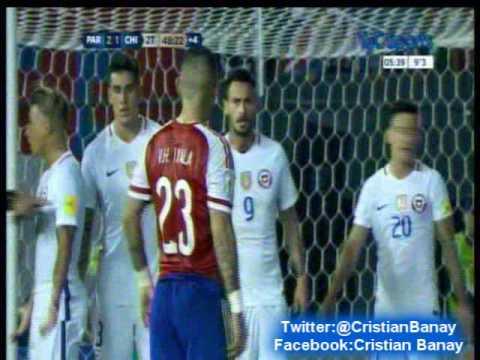 (Relator Enojado) Paraguay 2 Chile 1 (Radio Cooperativa Chile)  Eliminatorias a Rusia 2018