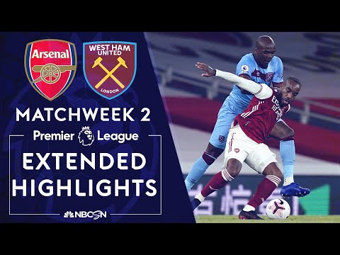 Arsenal v. West Ham | PREMIER LEAGUE HIGHLIGHTS | 9/19/2020 | NBC Sports