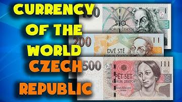 Currency of the world - Czech Republic. Czech koruna. Czech Republic banknotes and coins