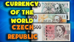 Currency of the world - Czech Republic. Czech koruna. Czech Republic banknotes and coins