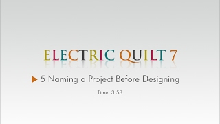 05 Naming a Project Before Designing – EQ7 Help