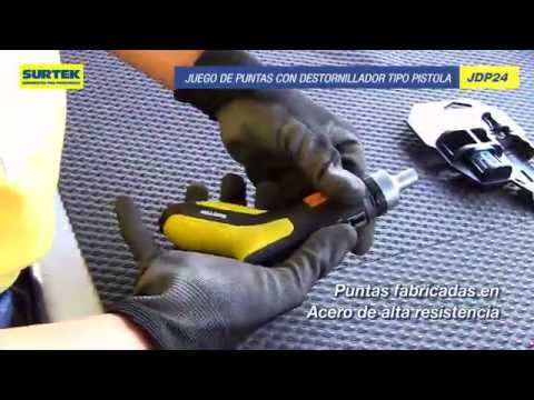 Juego de puntas con destornillador tipo Pistola: Surtek thumbnail