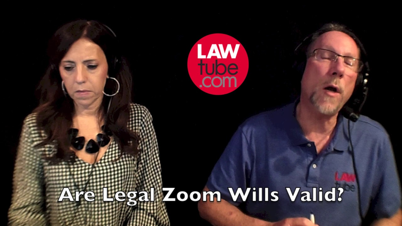 Are legal zoom wills valid? - YouTube
