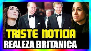 ⚠ ¡ HACE UNAS HORAS ! TRISTE NOTICIA 😢 PARA LOS HERMANOS PRINCIPE WILLIAM y HARRY !