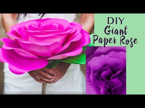 Как сделать большую бумажную розу? | DIY: Giant Paper Rose