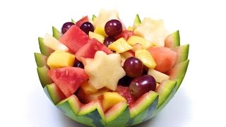 How To Easily Make A Watermelon Bowl (hd)