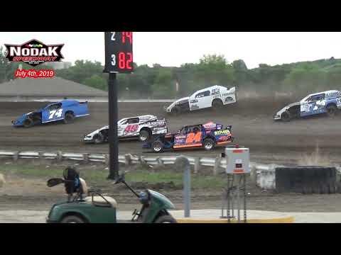 Nodak Speedway IMCA Sport Mod Heats (7/4/19)
