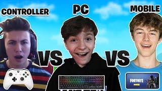 MOBILE vs PC vs CONTROLLER! Fortnite PROS  HIGH KILL CHALLENGE! (Part 1)