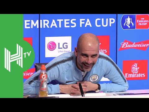 Pep Guardiola reacts to drawing Spurs in Champions League quarter-finals