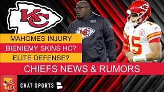 Patrick Mahomes Injury News + Chiefs Rumors On Eric Bieniemy Next Redskins Head Coach?